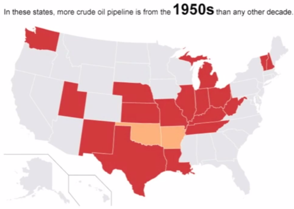 Half Century Old Pipelines Carry Oil And Gas Load Inside Energy - Us pipeline 1950 map
