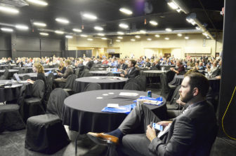 The 450 people gathered at the North Dakota Petroleum Council's annual meeting heard several speakers address the Dakota Access Pipeline.