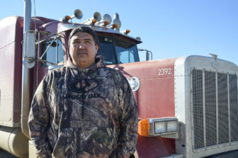 T.J. Plenty Chief owns Red Road Trucking on Fort Berthold.