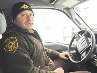 Captain Jesse Jahner of the Cass County Sheriff's Department, part of the law enforcement team policing the Dakota Access protests