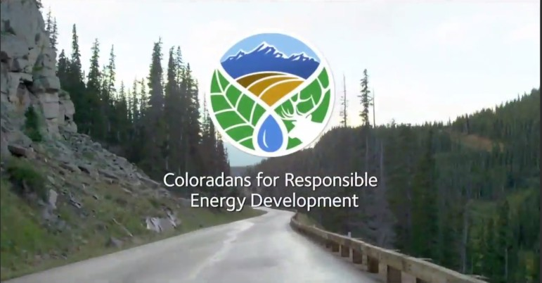 A screenshot of an ad from the group Coloradans for Responsible Energy Development.