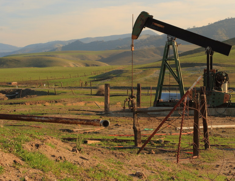 Oil well in San Benito County, California.