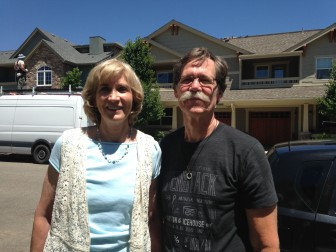 Don Dugger and his wife Barb Gifford outside their Boulder home.