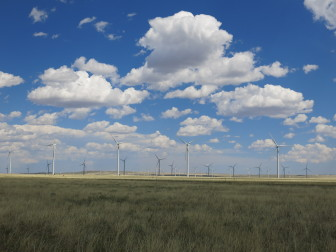A small Wyoming wind farm with 66 turbines.