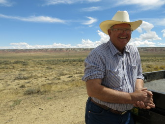 Niels Hansen, a Wyoming rancher, expects a wind transmission line to eventually cross through is property.
