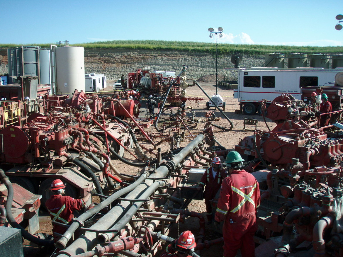 Fracking the Bakken Shale Formation in North Dakota.