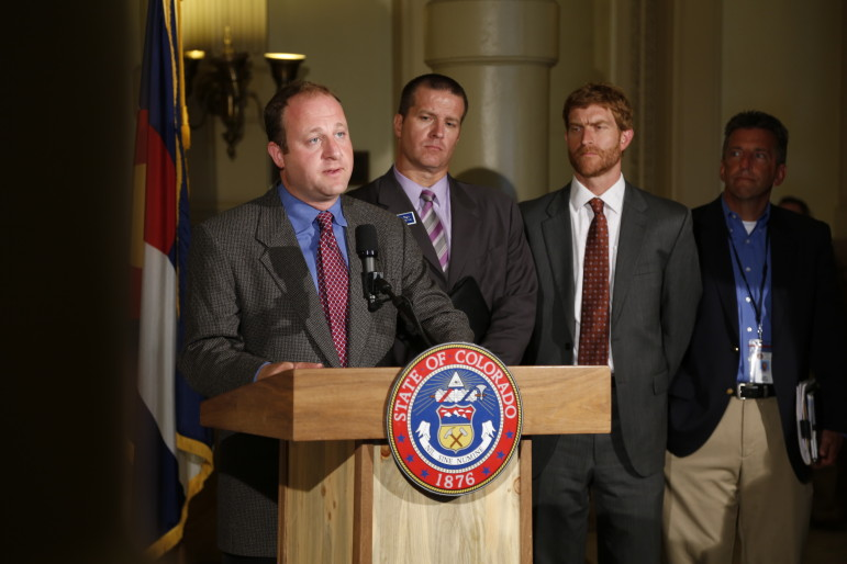 Congressman Jared Polis (D-CO) at the unveiling of the state's new oil and gas task force.