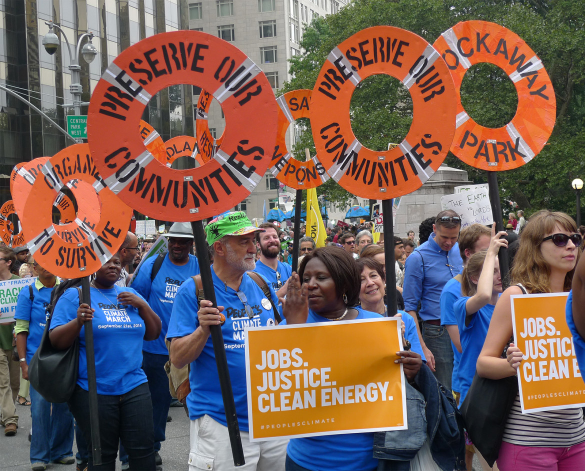 More than 300,000 people marched through the streets of Manhattan on Sunday to raise awareness about climate change.