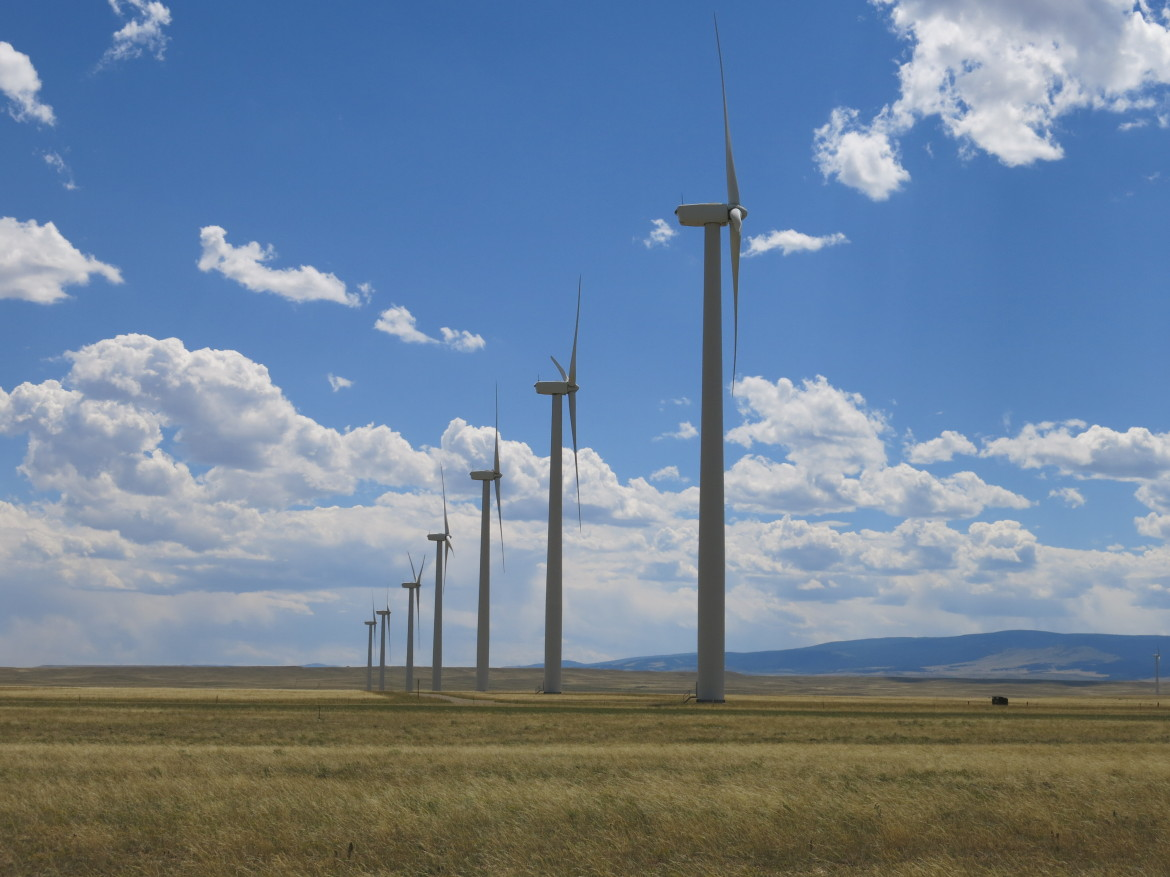 High Plains Wind Farm near McFadden, Wyoming. It is a small project, with just 66 turbines.