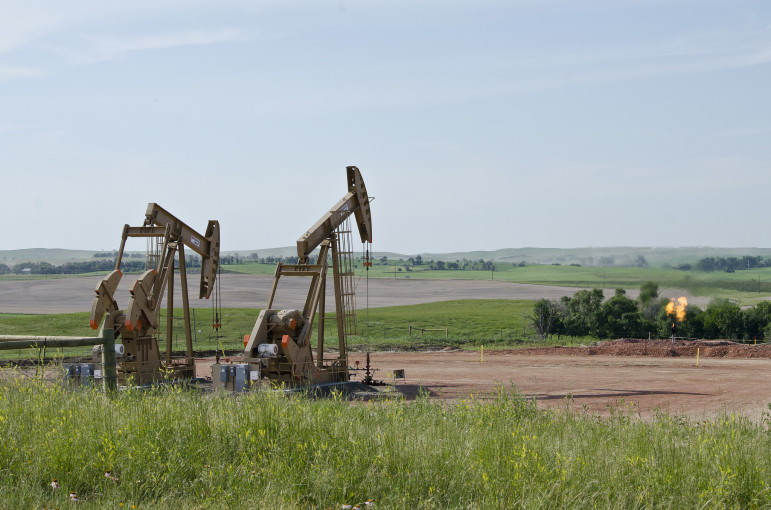 Drilling multiple oil wells on the same pad helps bring down costs.