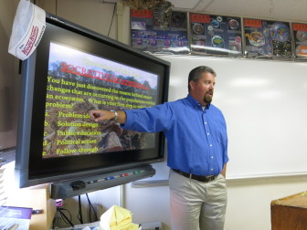 Michael Gregory, a science teacher at Pinedale Highschool, talks about human effects on the environment.