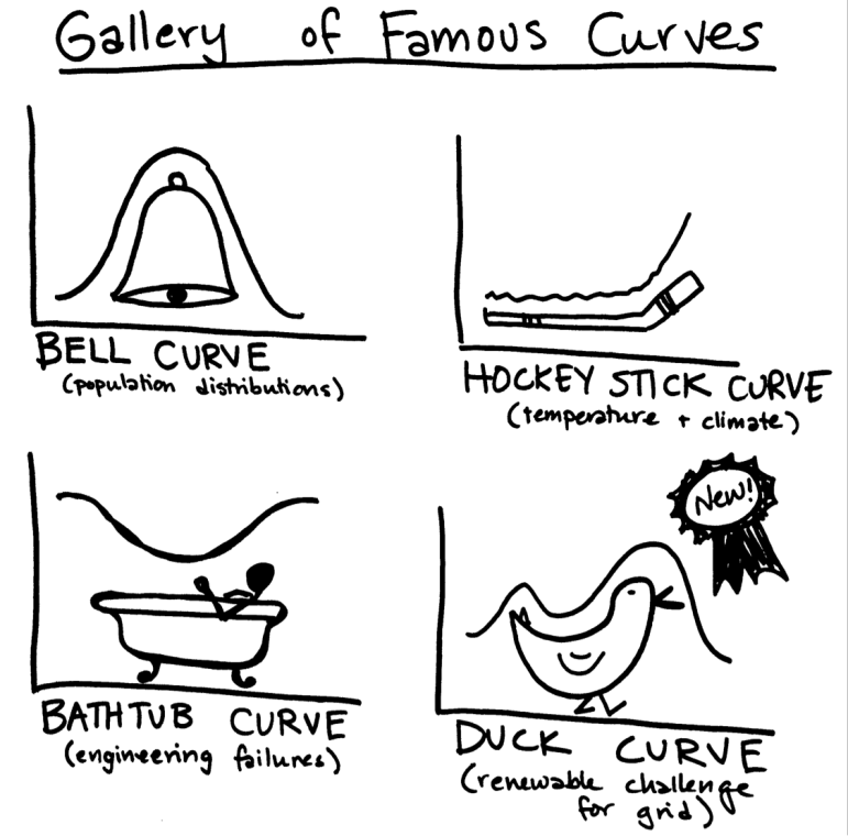 Introducing the newest member of the gallery of famous curves: the duck curve.