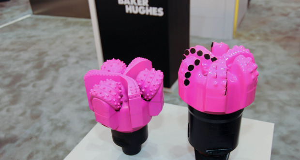 Baker Hughes painted a thousand drill bits pink to support breast cancer awareness.