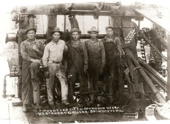 Drilling Rig Crew, Yount-Lee Oil Company, Spindletop Oil Field, Beaumont, Texas c. 1925