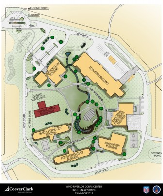 Sketch of Wind River Job Corps campus.