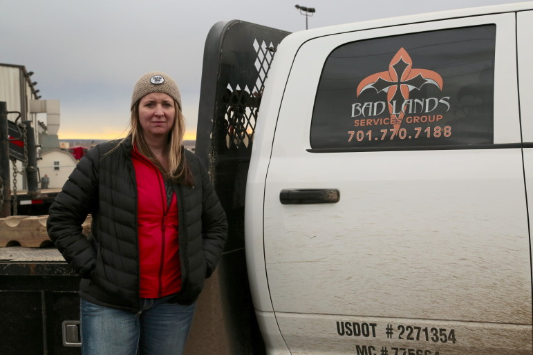 Apryl Boyce was a hot shot driver for Badlands Service Group in Williston, North Dakota.