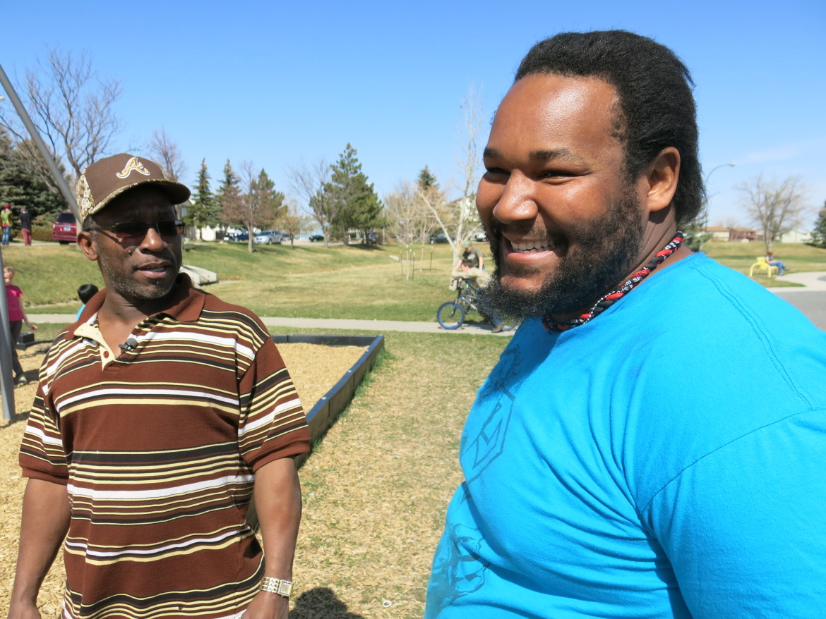 Ivan Pettigrew (left) helped his stepson, Ray Stuart (right), get his first job when he moved to Wyoming from Louisiana in 2009.