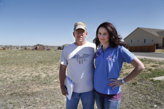 Casey Lemieux and Chelsey Crittendon  are fighting a proposed Xcel Energy substation near their Thornton, CO subdivision