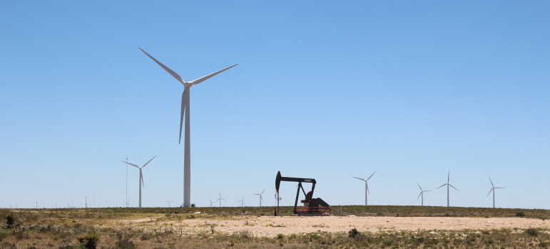 Oil and gas dominate the Texas energy market but wind is growing exponentially. Wind power now provides 10 per cent of the state's electricity.