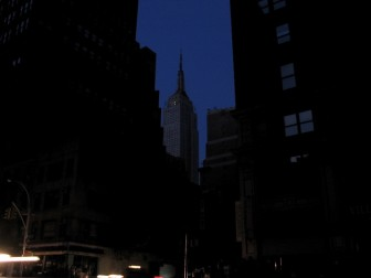 The Empire State Building went dark during the Northeast blackout of 2003.