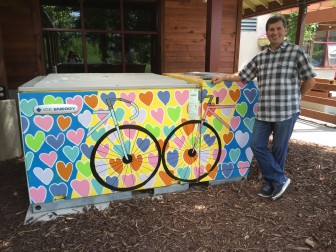 Greg Miller stands in front of the Ice Bear unit at New Belgium Brewery in Fort Collins, Colorado.