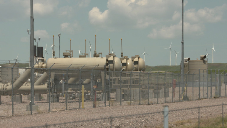 Natural gas compressor station.