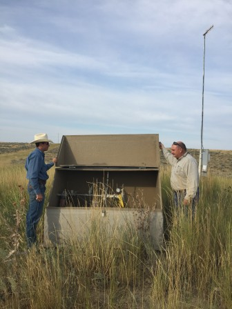 Jeff Gillum and Jeff Campbell work for the Wyoming Oil and Gas Conservation Commission and are overseeing the state's project to plug abandoned coal bed methane wells.
