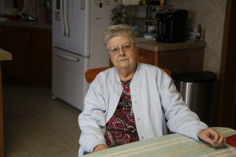 Donna Zofcin sits in her kitchen in Cheyenne, Wyoming.