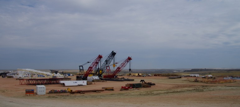 Cloud Peak Energy moved a dragline from its Cordero Rojo coal mine to its Antelope mine to address the issue of needing to move more dirt to get at the coal seams.