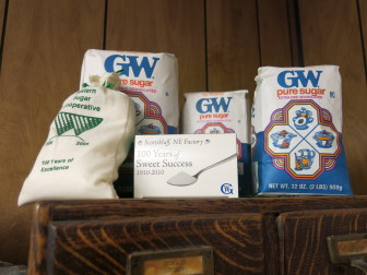 Sugar made at the Western Sugar Cooperative factory is shipped and packaged all over the country.