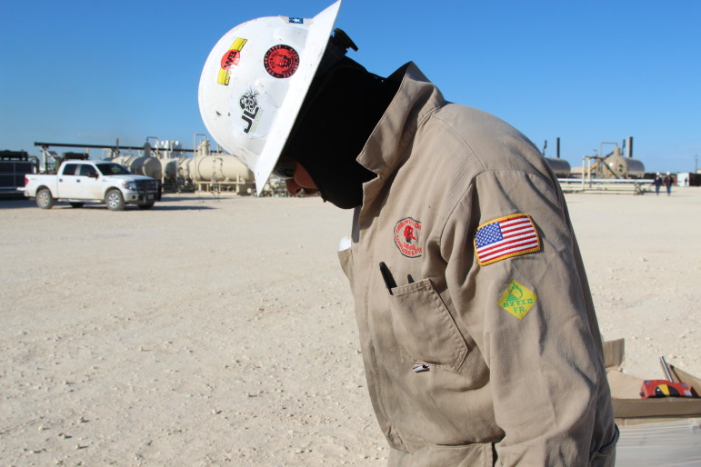 This oilfield worker said heis glad to have a job. Hundreds of thousands of people in the energy industry have been laid off since the price of crude oil peaked in the summer of 2014.