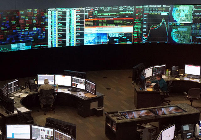 The grid control room at the California Independent Systems Operator or CAISO.