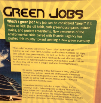 A photo included in the email complaint from the North Dakota Petroleum Council shows a panel from the Green Revolution exhibit.