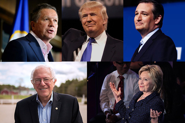 The remaining 2016 presidential candidates