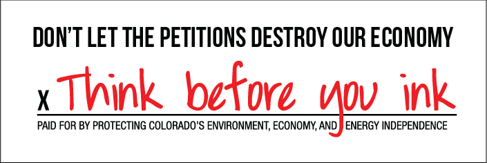 An example of a billboard sponsored by the oil and gas industry-backed Protect Colorado.