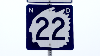 There are many signs of the boom and bust along Highway 22 outside of Dickinson, North Dakota.