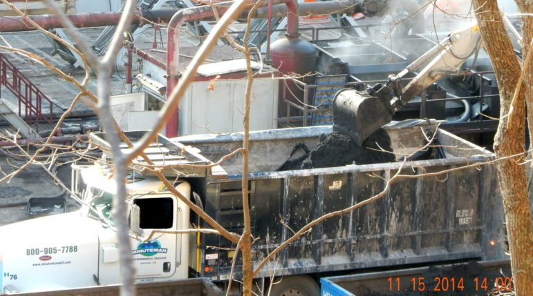 Byproducts of hydraulic fracturing, or fracking, create radioactive waste like the truckload shown here in West Virginia.