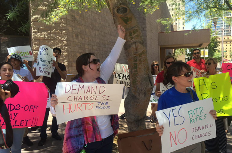Arizona Public Service is facing backlash over its proposal to add a new charge based on demand to customers' bills.