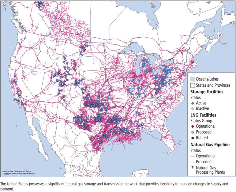 Natural Gas Transmission and Storage Infrastructure in the North American Market