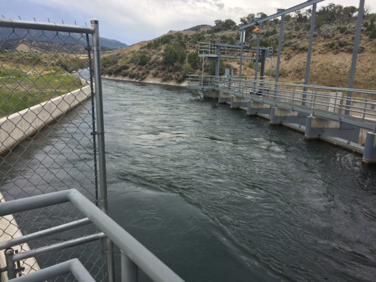 The intake for a micro-hydro plant on the South Canal, outside Montrose, Colorado. The Delta Montrose Electric Association has developed such plants on the canal in partnership with local water users, who benefit from the revenue the plants generate.