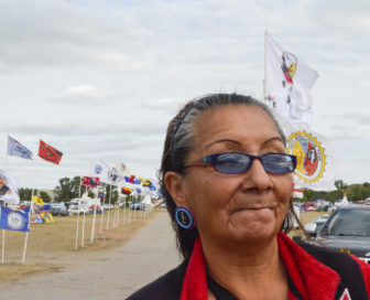 Johanna Holy Elk Face was born on the Standing Rock reservation but lives in Denver.
