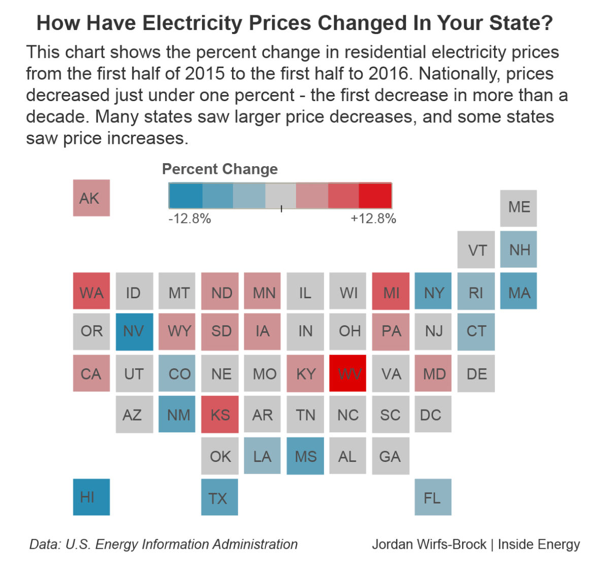 U.S. Electricity Prices Are Down For the First Time In A ... on us natural gas map, us energy map, us infrastructure map, us power plants map, us rail map, us oil map, us wind map, us pollution map, us hospitals map, us factories map, us ports map, us weather map,