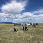 Volunteers getting ready to re-introduce Wyoming Toads back into the wild